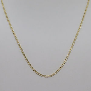 Jewelry - 14k Yellow Gold 16inch Cuban Style Necklace Chain